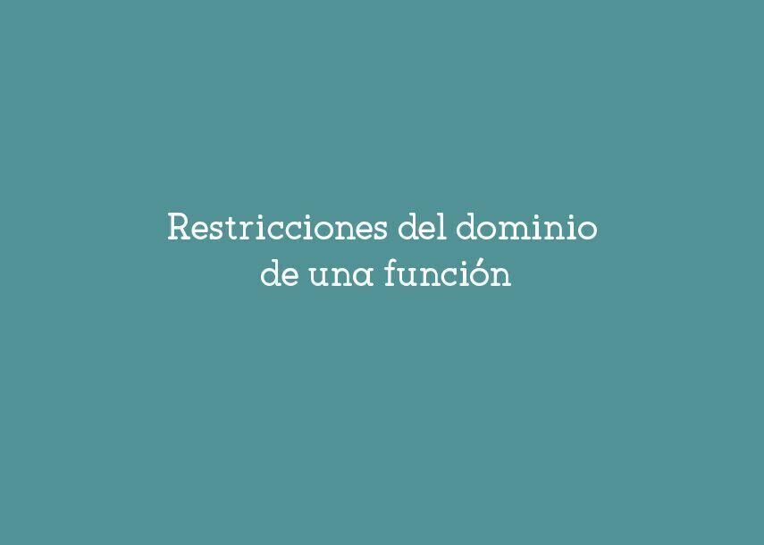 Restricciones del dominio