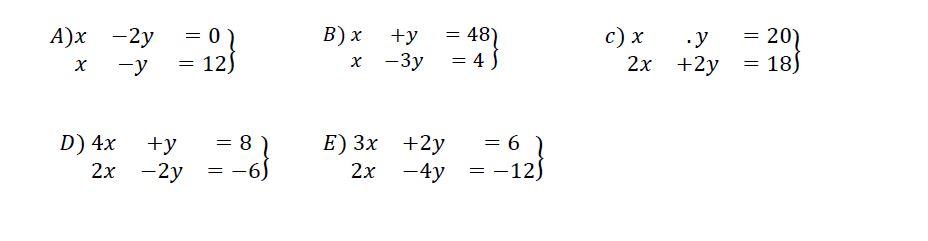 ekercicios ecuaciones lineales