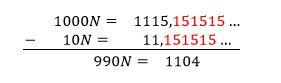 fraccion generatriz decimal periodico mixto ystp